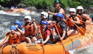 Whitewater Rafting in Maine with Moxie Outdoor Adventures - fun