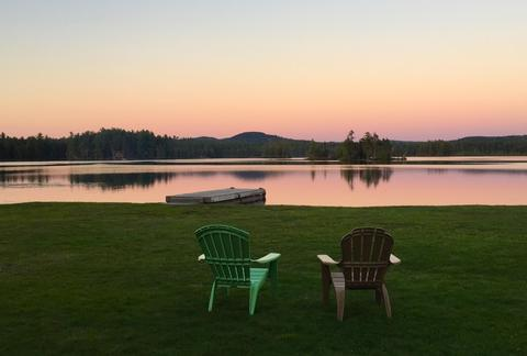 Maine Lakefront Cabins, camping and platform tent rentals on the